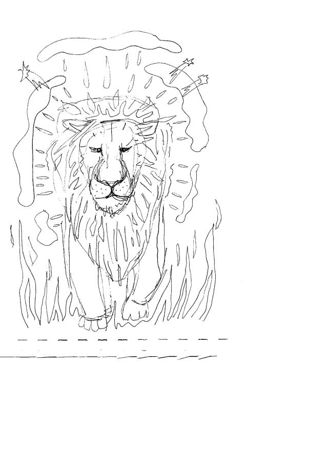 Noah's story- The lion illustration